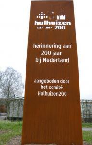 Herinnering aan Hulhuizen 200 jaar bij Nederland 1 maart 2017